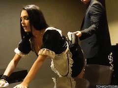 Таня Тейт трахается в офисе с очередным ухажером